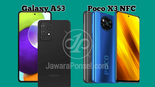 Desain Samsung Galaxy A52 vs Poco X3 NFC