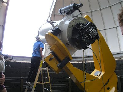telescope at BGSU observatory