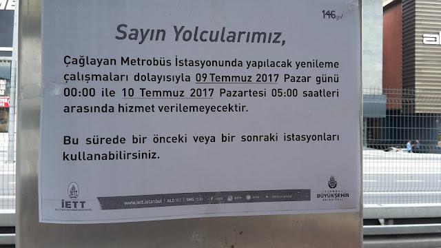توقيف خط المتروبوس في اسطنبول