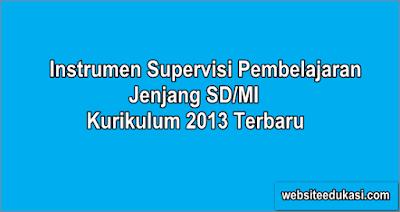 Instrumen Supervisi SD Kurikulum 2013 Tahun 2019/2020