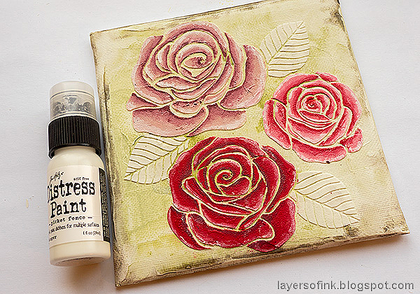 Layers of ink - Mixed Media Rose Canvas Tutorial by Anna-Karin Evaldsson.