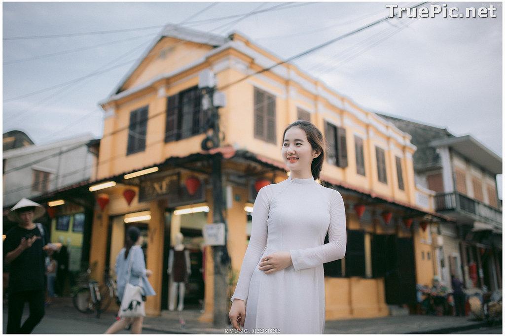Image Vietnamese Cute Girl - Vo Xuan Chau - Ao Dai at Hoi An - TruePic.net - Picture-10