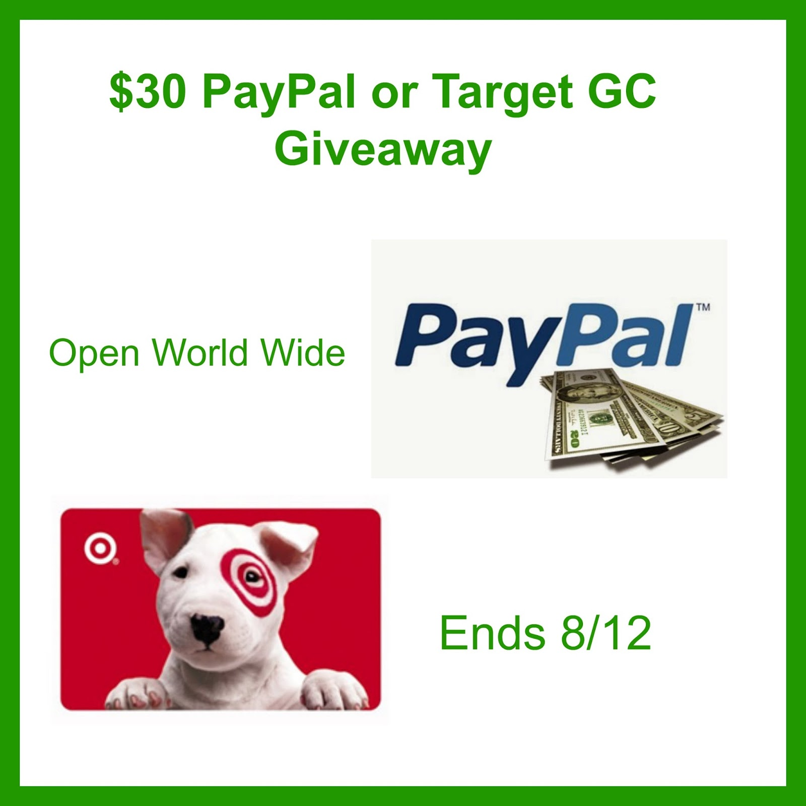 Top Notch Material: $30 PayPal or Target Gift Card Giveaway