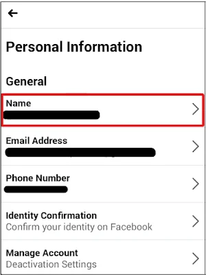 change the name on Facebook