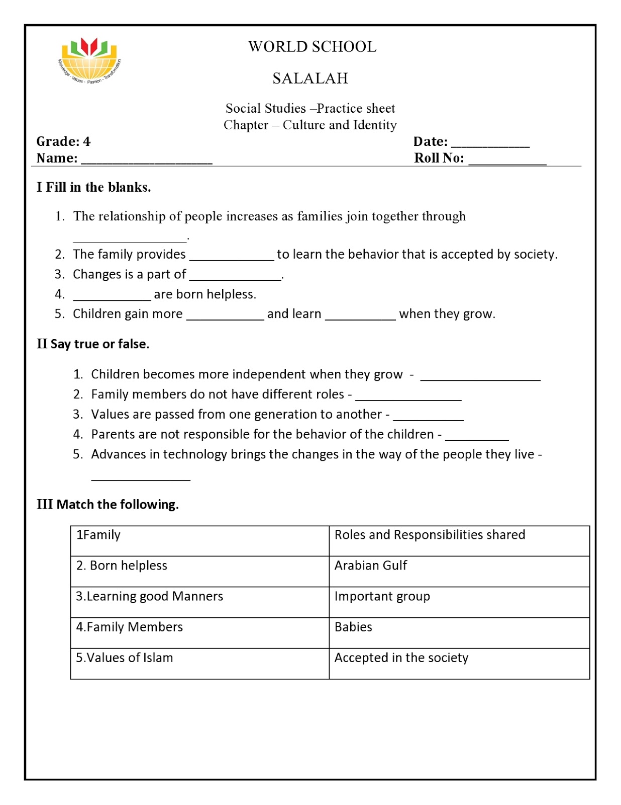Uae Sst Worksheet Grade 2   Printable Worksheets and Activities for  Teachers [ 1600 x 1236 Pixel ]