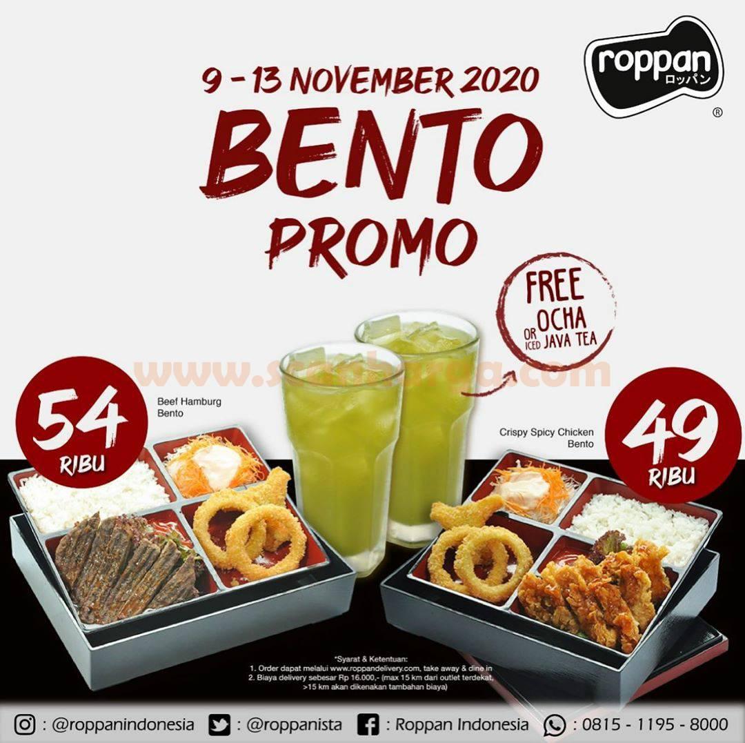 Roppan Promo Special Price Bento Beef Hamburg & Bento Crispy Spicy Chicken!