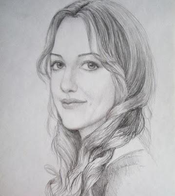 صور رسم بنت مبتسمة