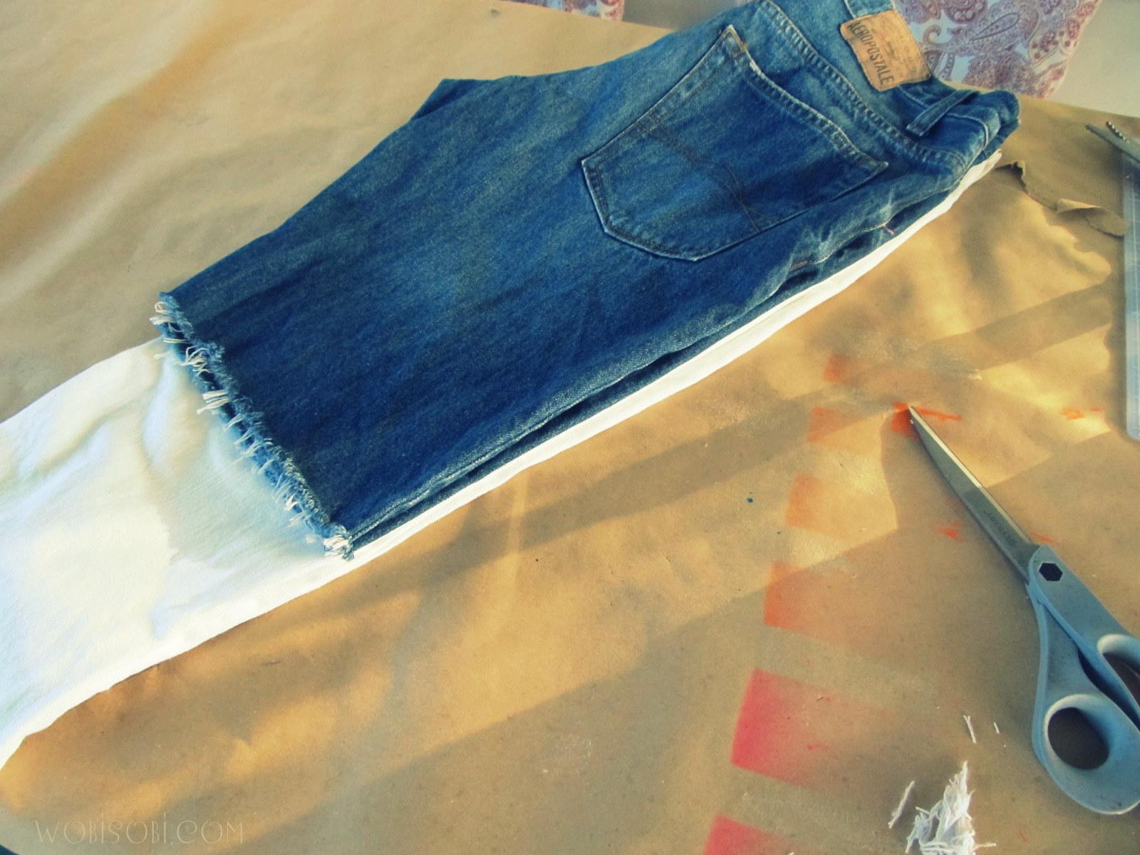 WobiSobi: Cut off Denim, Distressed Shorts, DIY