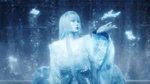la mujer pálida Yuki-onna.