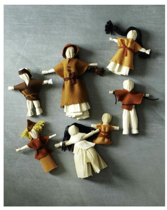 Corn Husk Dolls Tutorial