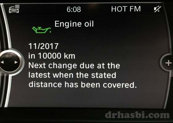 Sistem iDrive BMW yang canggih lepas tukar minyak hitam