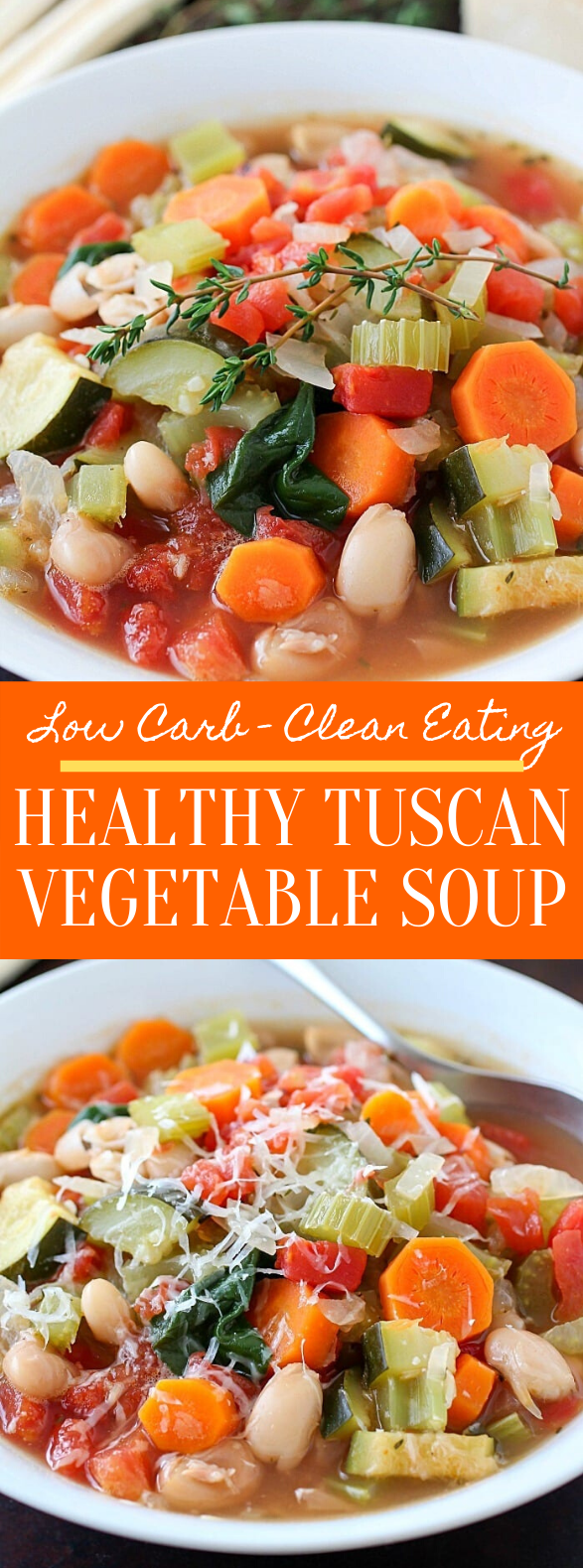 Healthy Tuscan Vegetable Soup #dinner #cleaneating