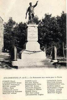 CPA monuments aux Morts du Puy-de-Dôme, Sainte Christine