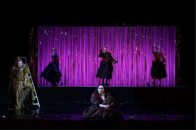 Purcell: Dido and Aeneas - Silja Elsabet Brynjarsdóttir (Sorceress) and Bernadette Johns (Dido) - Royal Academy of Music, 2021(Photo Craig Fuller)