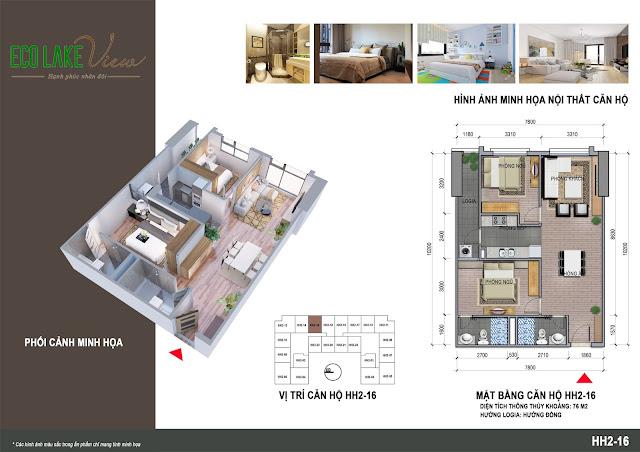 Thiết kế căn hộ 16 tòa HH-02 Eco Lake View