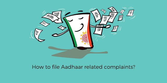 How to register aadhaar related complaints online?