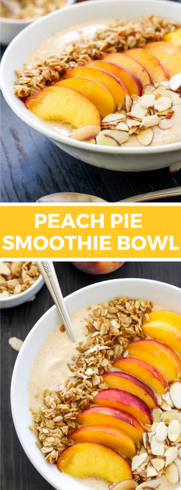 PEACH PIE SMOOTHIE BOWL #healthydiet #breakfast