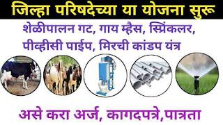 Zp schemes Maharashtra how to apply for Zilla Parishad Yojna. जिल्हा परिषद योजना Zilla Parishad Yojna