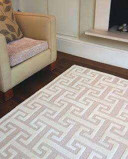custom hand tufted rug in cut and loop pile