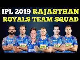 IPL 2019 RR squad