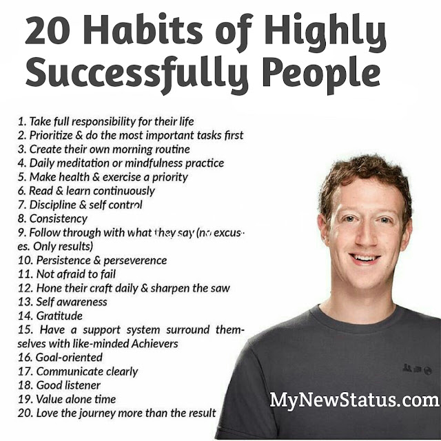 Top 20 Habits of Highly Successfully People