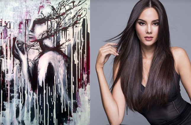 Miss Universe Philippines 2018 Catriona Gray makes stunning artworks