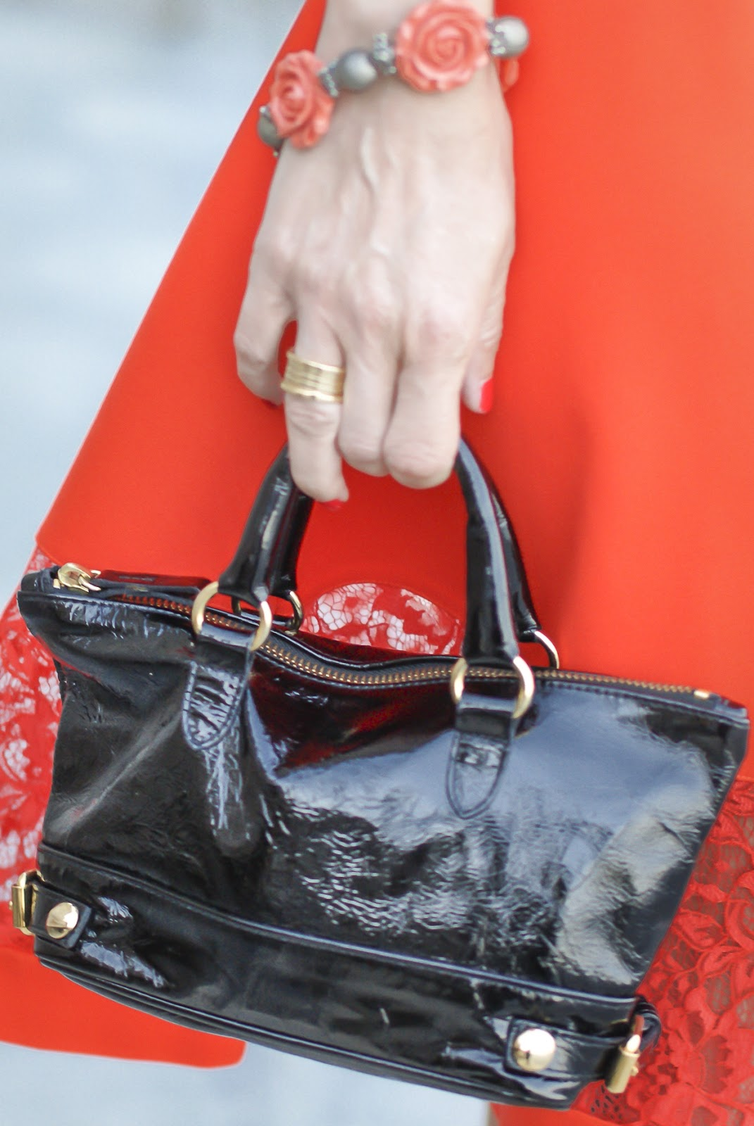 patent leather mini bag on Fashion and Cookies fashion blog, fashion blogger style