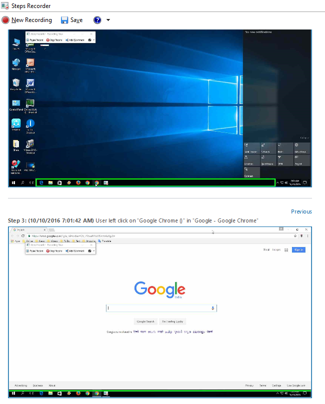 Learn New Things: Hidden Steps Screen Recorder of Windows 10