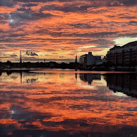 Dublin pictures: Sunrise over Grand Canal Dock