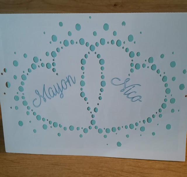 carte mariage silhoouette