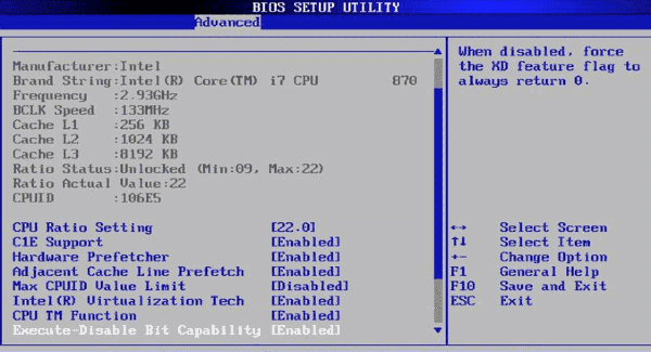 Full Form of BIOS - BIOS Setup Utility