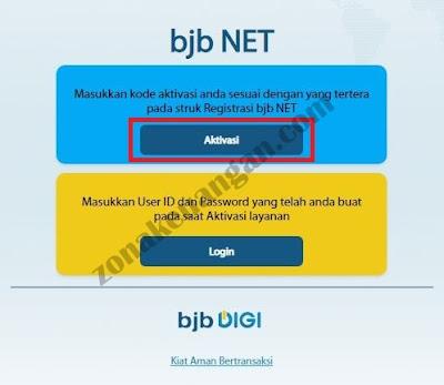 Aktivasi bjb NET