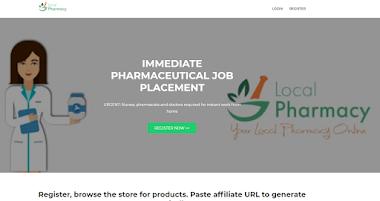 Pharmacy Jobs Affiliate Website Template