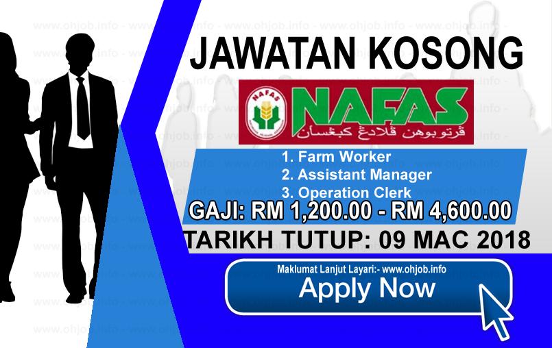 Jawatan Kerja Kosong Pertubuhan Peladang Kebangsaan - NAFAS logo www.ohjob.info mac 2018