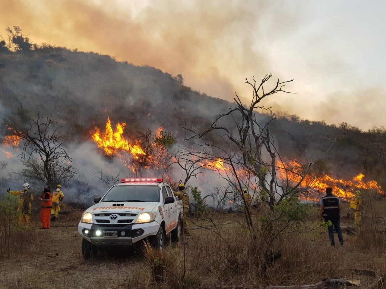 Incendio en sierras de Córdoba