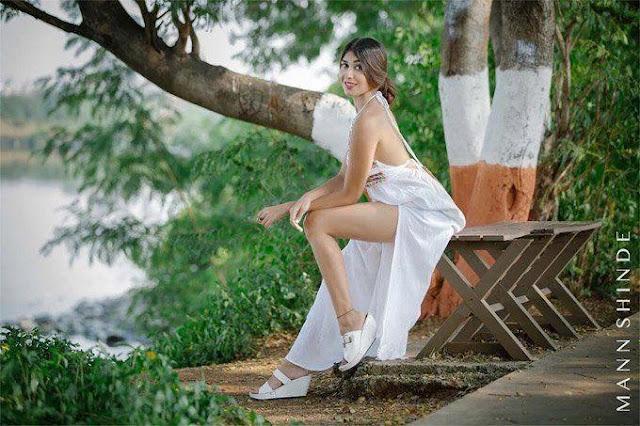 Actress Ruma Sharma Latest Hot Stills in Sexy White Dress Navel Queens