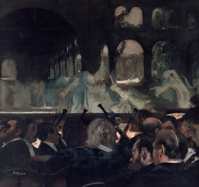 Edgar Degas : Ballet of the Nuns (1876) - from Meyerbeer's Robert le diable