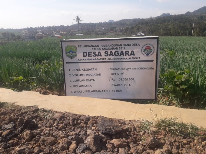 Pengurugan Jalan Desa Sagara Diduga Bermasalah.
