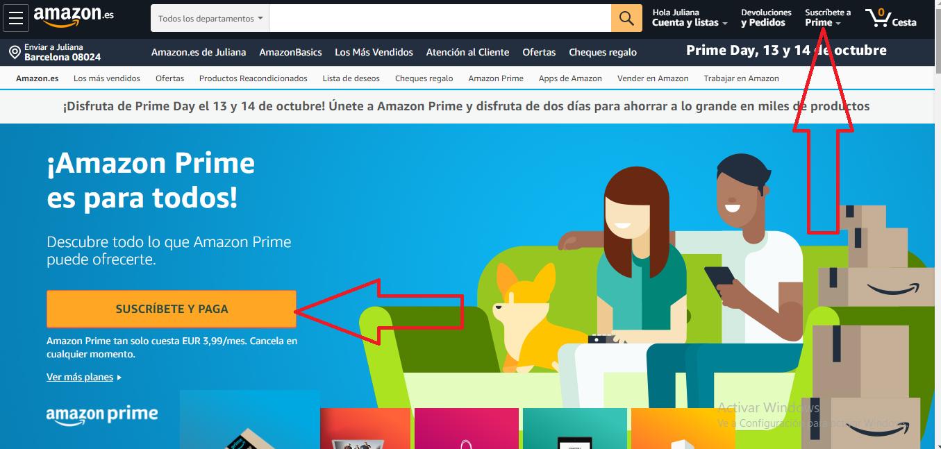 OBTENER SUSCRIPCION DE AMAZON PRIME VIDEO GRATIS