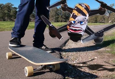 Longboard and DJI Spark Drone