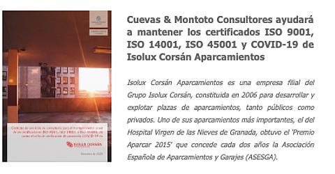 Contrato firmado entre Cuevas y Montoto Consultores e Isolux Corsán Aparcamientos