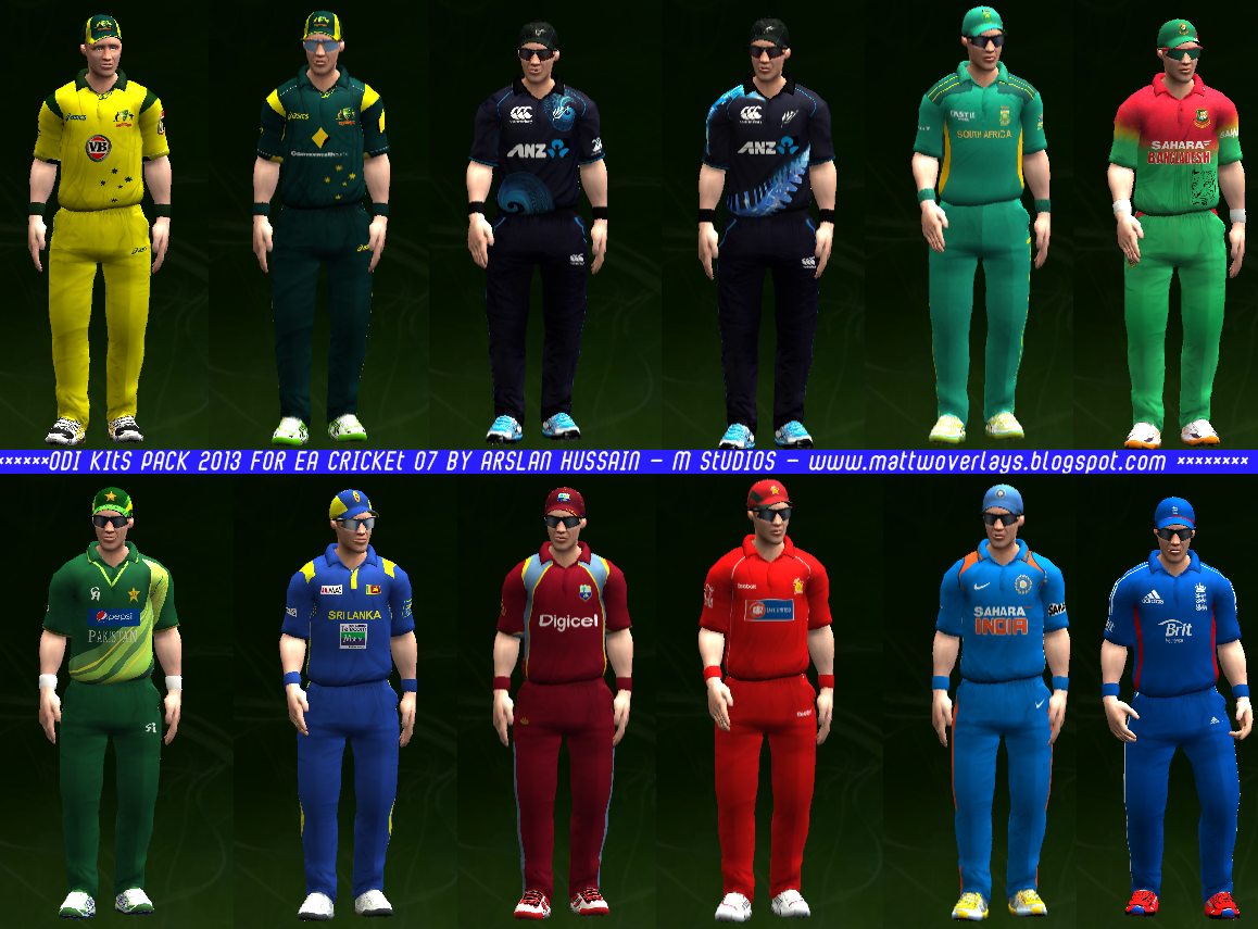 cricket 2007 roster pack free download