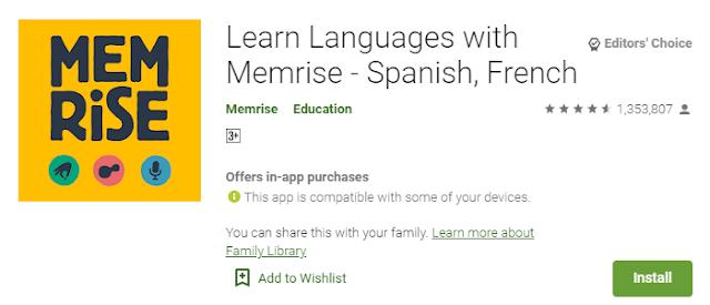 Aplikasi Memrise