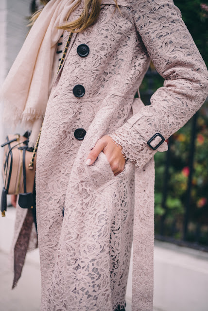 Fashion Inspiration: Pink Lace Trench by Burberry | Gal Meets Glam