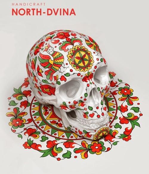 05-Noth-Dvina-Style-Sasha-Vinogradova-Russian-Folk-Panting-Skulls-www-designstack-co