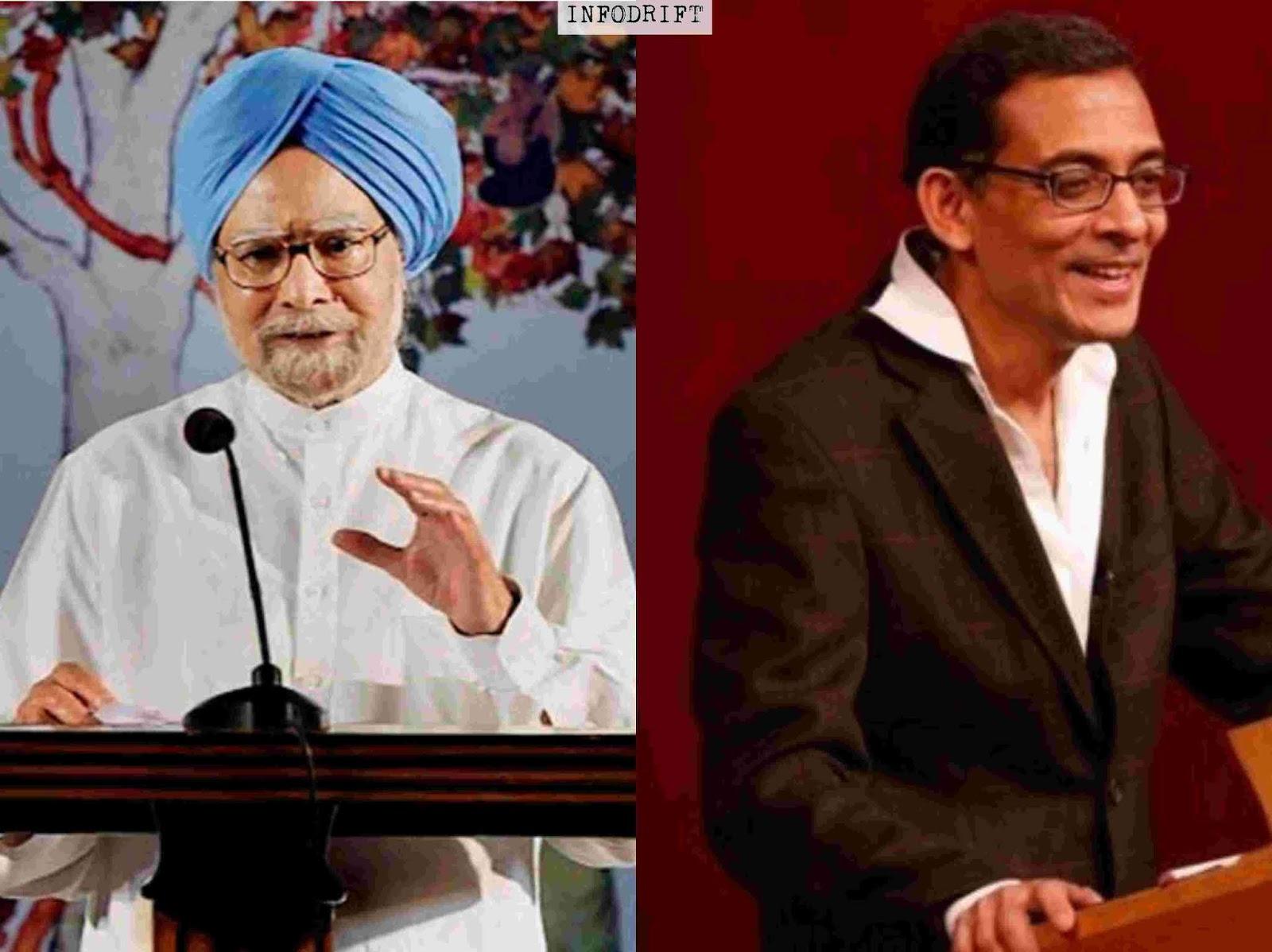 Dr. Abhijit Banerjee and Dr. Manmohan Singh