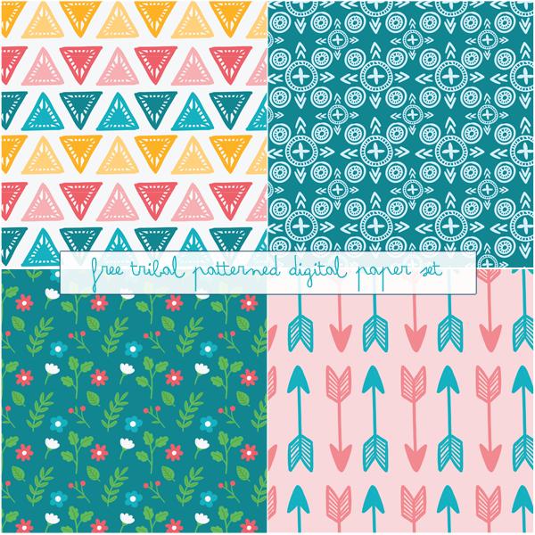 just peachy designs free tribal patterned digital paper