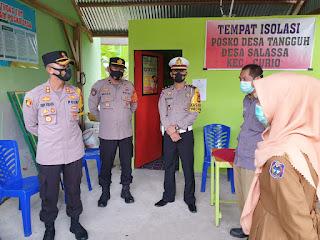 Cek Penanganan Covid-19, Kapolres Enrekang Kunjungi Kampung Tangguh Massenrempulu Balla Ewako Salassa