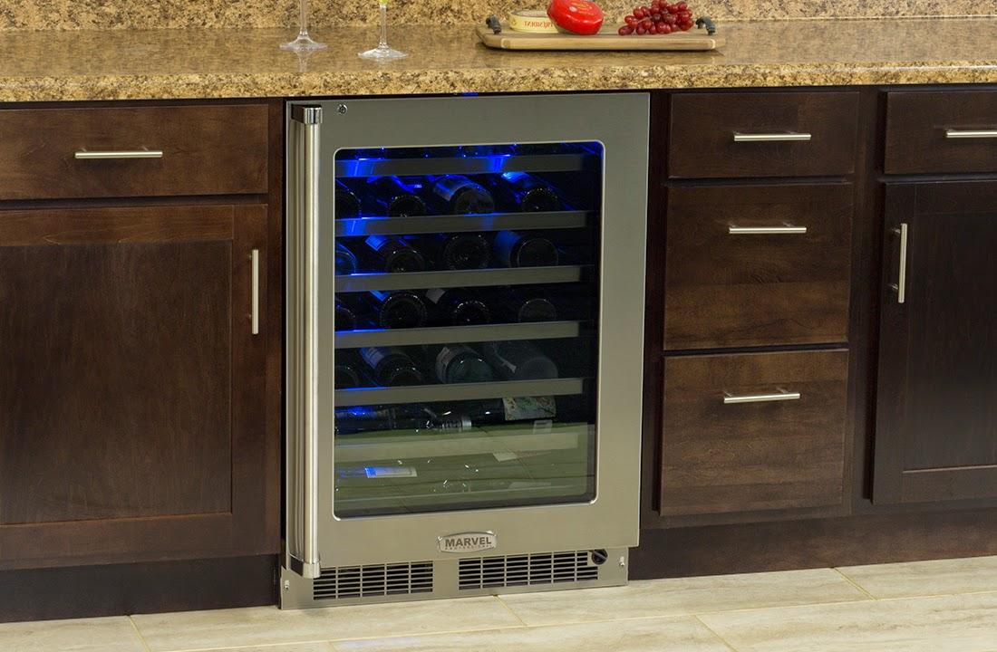 Marvel Wine Cellar Shown In Kitchen Cabinets