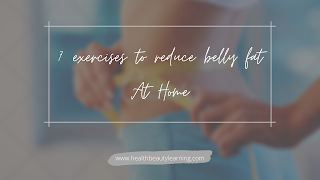 exercises to reduce belly fat at home